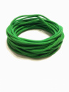 Жгут спортивный резиновый в тканевой оплетке ( резина, d-10 мм, I-600 см, зелёный  ) rez.zhyt10green