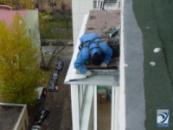 Герметизация и ремонт козырьков балконов и лоджий.