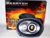 Колонки (динамики) MEGAVOX MGT-9836 6x9 овалы (500W) трехполосные