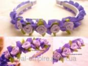Обруч «Венок» с цветками фиолетовый.