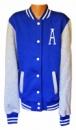 Куртка американка бомберка теплая на флисе с начесиком подростковая, цвет синий