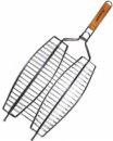 Решетка-гриль для рыбы Kamille «Скаут» двойная 36х25х2см