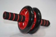 Колесо для пресса Красное Колесико для спорта Ролик для преса Тренажер двойное