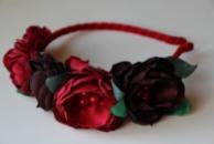 Яркий обруч для волос «Marsala» от автора handmade Анны Юриной