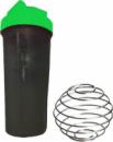 Шейкер спортивний Shake Bottle 700 мл. з вінчиком. Черно-зелений
