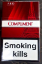 сигареты Комплимент красный белая сигарета,COMPLIMENT RED KING SIZE