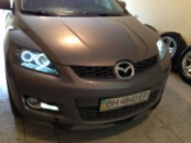 Mazda CX-7 тонировка оптики, полировка фар