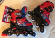 Детские Ролики размер 31-34 красно-синие