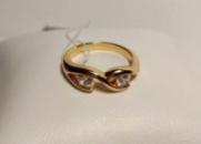 Элегантное кольцо с цирконием позолота 18К