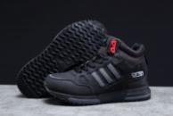 Зимние мужские кроссовки 31363, Adidas ZX 750 (мех), черные [ нет в наличии ] р.(46-29,!см)