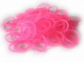 Розовые пузырчатые круглые резинки для плетения Rainbow loom