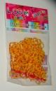 Желтые в точку резинки для плетения Rainbow loom