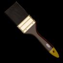 Кисть для лака 1,0«, флейцевая, (черная)