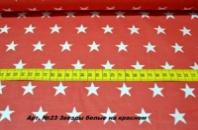Бязь польская Арт №23 «Звезды белые на красном»