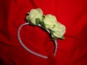 Обруч для волосся «Жовті троянди»