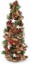 Декоративная елка «Звездочка» 48см с декором из шишек, ягод и звезд