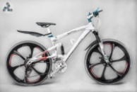 Элитный Велосипед BMW X3 White\Bl на литых дисках