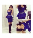 Платье «Баска »хрусталь