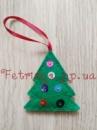 Новогодняя игрушка из фетра Елка