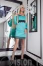 Платье «Брейф» 15552 (бирюза)
