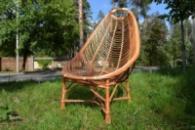 Кресло плетеное из лозы «Ракушка большая»