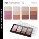 Пудра розсвітлююча Inglot FREEDOM SYSTEM HD HIGHLIGHTER TRIO