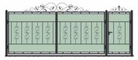 Кованые ворота и калитка модель (ВК-01)
