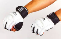 Накладки (перчатки) для таеквондо с фиксатором запястья MOOTO(5078-W)