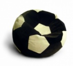 Черно-белое кресло-мяч из велюра