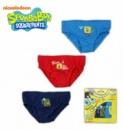 Трусики детские для мальчиков набор 3 шт. «Губка Боб» (Sponge Bob), бренд «Nickelodeon»