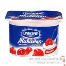 Йогурт Живинка Данон (Danone) вишня 1.5% 115г