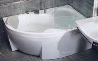 Акриловая ванна Bisante Роза (Левая) 1600х1050х580 мм