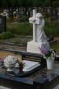 Ангел с крестом из мрамора №1