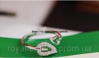 Кольцо «Лепесток»  под золото размер регулируется.