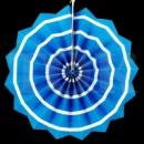 бумажный веер 20 см голубой