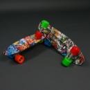 Скейт penny board (пенни борд). Абстракция, не светящиеся колеса.