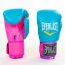 Перчатки боксерские женские EVERLAST 10oz розовый-голубой