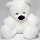 Белый плюшевый мишка Бублик 50 см