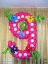 цифра 9 из воздушных шаров