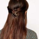 Заколка для волос полумесяц, золото, 1 шт