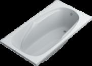 Акриловая ванна Swan Simona 150х80х55 см прямоугольная