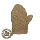 Мочалка лен, рукавица, ручной вязки №33