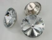Декоративные стеклянные пуговицы «Ромашка» 25мм
