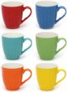 Набор «Плетение» 6 фарфоровых цветных кружек 325мл