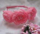 розовый букет обруч