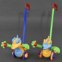 Каталка 350 (48/2) «Дракончик» на палочке, машет лапками с погремушкой, 2 цвета, в кульке|escape:'html'
