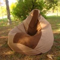 Кресло-мешок груша 120*90 см из ткани Микро-рогожка Саванна|escape:'html'