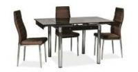 Стол стеклянный раскладной ТВ21 коричневый 80/130*65*75 см|escape:'html'