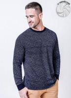 Теплая мужская футболка ( кофта ) темно-синий|escape:'html'