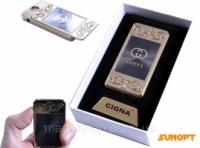 USB зажигалка с фонариком в подарочной упаковке «Gucci » (спираль накаливания) №4810-1 Код:627504453 escape:'html'
